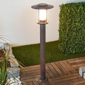 Roestkleurige LED tuinpad verlichting Pavlos - lampen-24