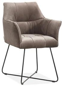 Comfortabele Design Eetkamerstoel Taupe
