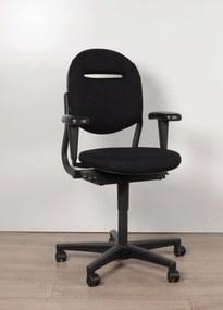 Bureaustoel 220, zwart, (opnieuw gestoffeerd) 3D armleggers