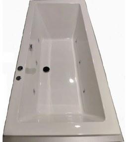 Duco whirlpool bad 180x80 cm waterinjectie 6 jets