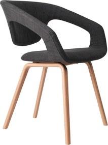 Zuiver Flex Back stoel donkergrijs met naturel onderstel set van 2
