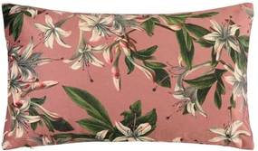 Kussen roze, bloemen, langwerpig