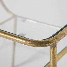 BePureHome Amazing Bijzettafel Metaal Met Glas Antique Brass