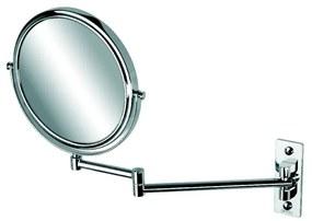 Cosmetic Collection scheerspiegel 2-armig rond 20 cm 3x vergrotend chroom