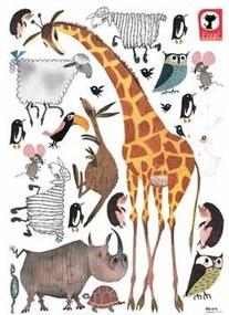 Fiep Westendorp Muursticker Dieren XL - Giraffe
