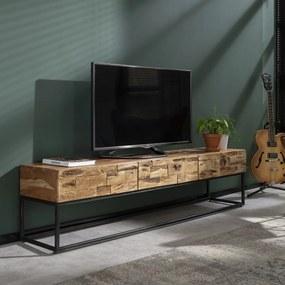 Massief Acaciahouten Tv-meubel 180 Cm - 180x40x46cm.