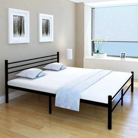 Medina Bed met traagschuim matras metaal zwart 180x200 cm