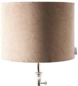 Rivièra Maison - Velvet Cylinder Lampshade sand 30x40 - Kleur: beige