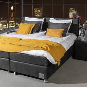 Skully Boxspringset Skully Premium - Incl. Hockers 90 x 200 cm