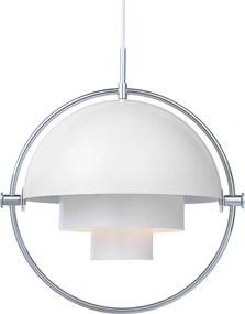 Gubi Multi-Lite hanglamp chroom/wit