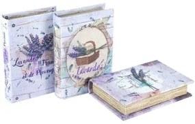 Trunks, opbergdozen Multicolour Signes Grimalt  Boek 3U Doos Lavendel In September