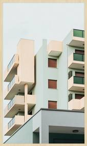 Wandkraft | Wanddecoratie Rhythm of the City breedte 70 cm x hoogte 118 cm multicolour decoratieve wandobjecten forex decoratie | NADUVI outlet