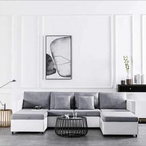 Medina Slaapbank uittrekbaar 4-zits kunstleer wit