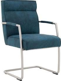 Goossens Knock Out blauw microvezel met arm, modern design