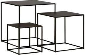 Goossens Excellent Bijzettafel Gs-1305, metaal zwart, urban industrieel, 50 x 50 x 50 cm