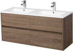 Adema Bella badmeubelset 119x45.5x55cm greeploos zonder spiegel met overloop hout AC120HOUT-GL