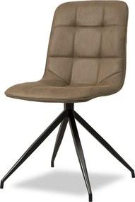 Sense' Living | Eetkamerstoel Lazy - totaal: breedte 48 cm x hoogte 86 cm - cognac eetkamerstoelen microvezel stoelen & | NADUVI outlet