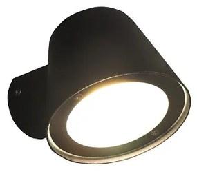 Led 008 wandlamp led incl 3000k + 4000k lamp - mat zwart