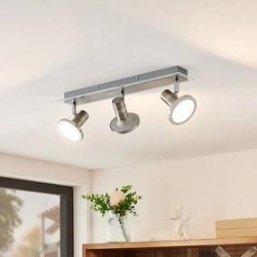 Kajetan LED spot, nikkel, 3-lamps - lampen-24