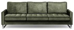 Rivièra Maison - West Houston Sofa 3,5 Seater, velvet, ivy - Kleur: groen