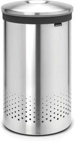 Brabantia wasbox 60 liter met uitneembare waszak matt steel 105180