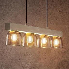 Watan hanglamp met grijze glazen - lampen-24