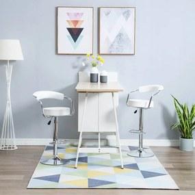 Barstoelen draaibaar 2 st kunstleer wit