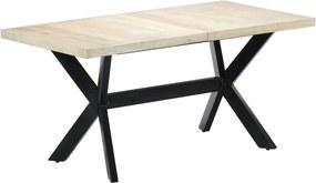 Eettafel 160x80x75 cm massief mangohout wit