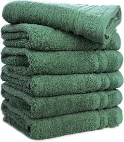Fresh & Co 6-PACK: Handdoeken - Donkergroen