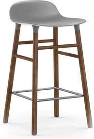 Normann Copenhagen Form Barstool barkruk 65cm met walnoten onderstel