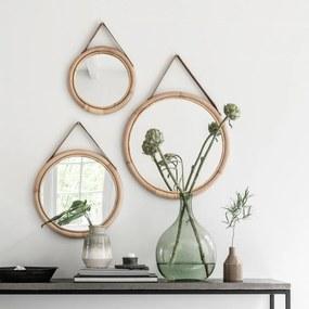 Must Living San Jose Set Van Ronde Rotan Spiegels - 32x2cm