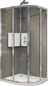 Lunes 2.0 R kwartrond douchecabine met schuifdeur 88,5 - 91,5 cm helder glas matchroom