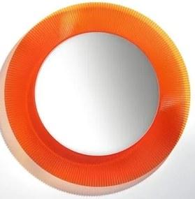 Kartell By spiegel 78 cm. rond met rand oranje