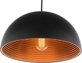 Lyon Vintage Industriele Design Hanglamp Zwart Koper Ø40cm