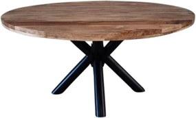 Dimehouse   Eettafel Denver lengte 120 cm x breedte 120 cm x hoogte 77 cm bruin eettafels mangohout, metaal meubels tafels   NADUVI outlet
