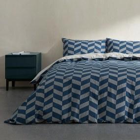 Otis dekbedset van 100% katoen, tweepersoons, middernachtblauw