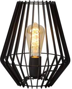 Lucide tafellamp Reda 23,5x23,5x26 cm - zwart - Leen Bakker