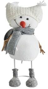Sneeuwpop muts wit - 30 cm