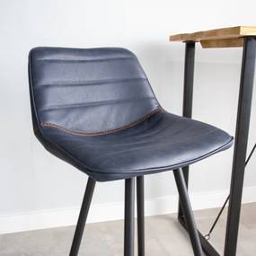 Dimehouse   Barkruk Jack - totaal: breedte 49 cm x diepte 43 cm x hoogte taupe barkrukken kunstleer, metaal meubels poefs   NADUVI outlet