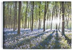 Art For The Home canvas schilderij Bloem - groen/paars - 70x100 cm - Leen Bakker