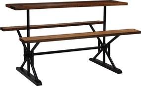 Bartafel met banken 180x50x107 cm massief gerecycled hout