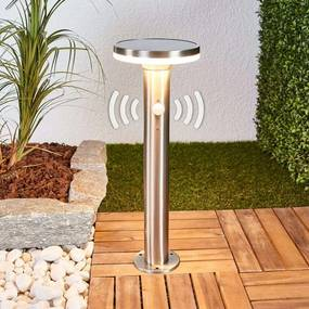 Sokkellamp op zonne-energie met sensor en LED's