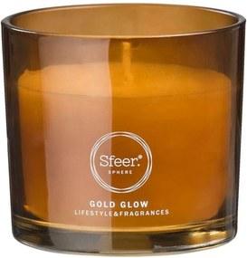 Sfeer geurkaars Gold Glow - 7,5xØ8 cm - Leen Bakker