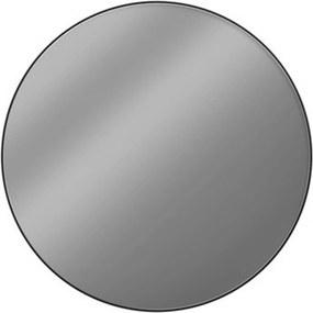 Black Line Round Spiegel 80 cm Mat Zwart