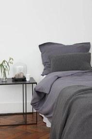 Dekbedovertrek blauwgrijs, linnen & katoen, Remy Extra breed (260-200 cm)