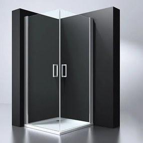 Douchecabine Erico Vierkant Hoekinstap Draaideur 100x100x190cm Antikalk Helder Glas Chroom Profiel 6mm Veiligheidsglas Easy Clean