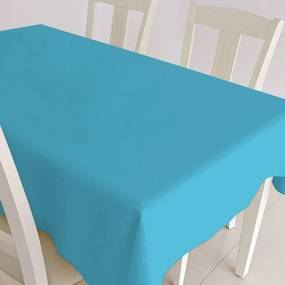 Gecoat tafellinnen Maly Turquoise 160cm 160cm