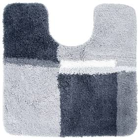 Toiletmat Differnz Cubes Antislip 60x60 cm Microfiber Grijs