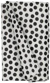 Tafelzeil 140x240 Polyester - Stippen Wit/zwart (wit/zwart)
