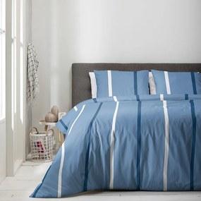 Luna Bedding Luna Blue Stripes 1-persoons (140 x 220 cm + 1 kussensloop) Dekbedovertrek